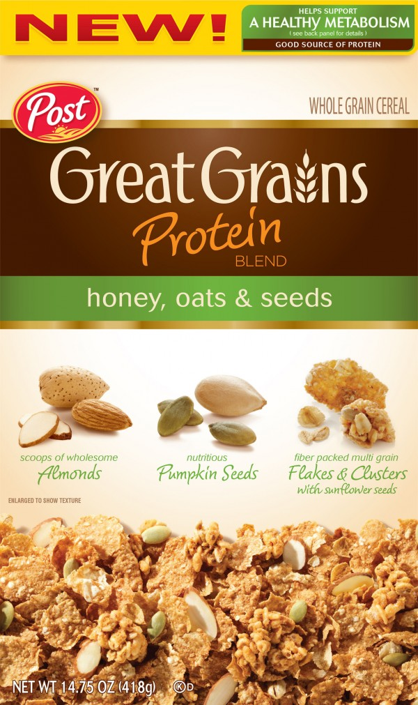 Post, Great Grains, Raisin, Date & Pecan Cereal, 16oz Box (Pack of 4) Amazon's Choice for