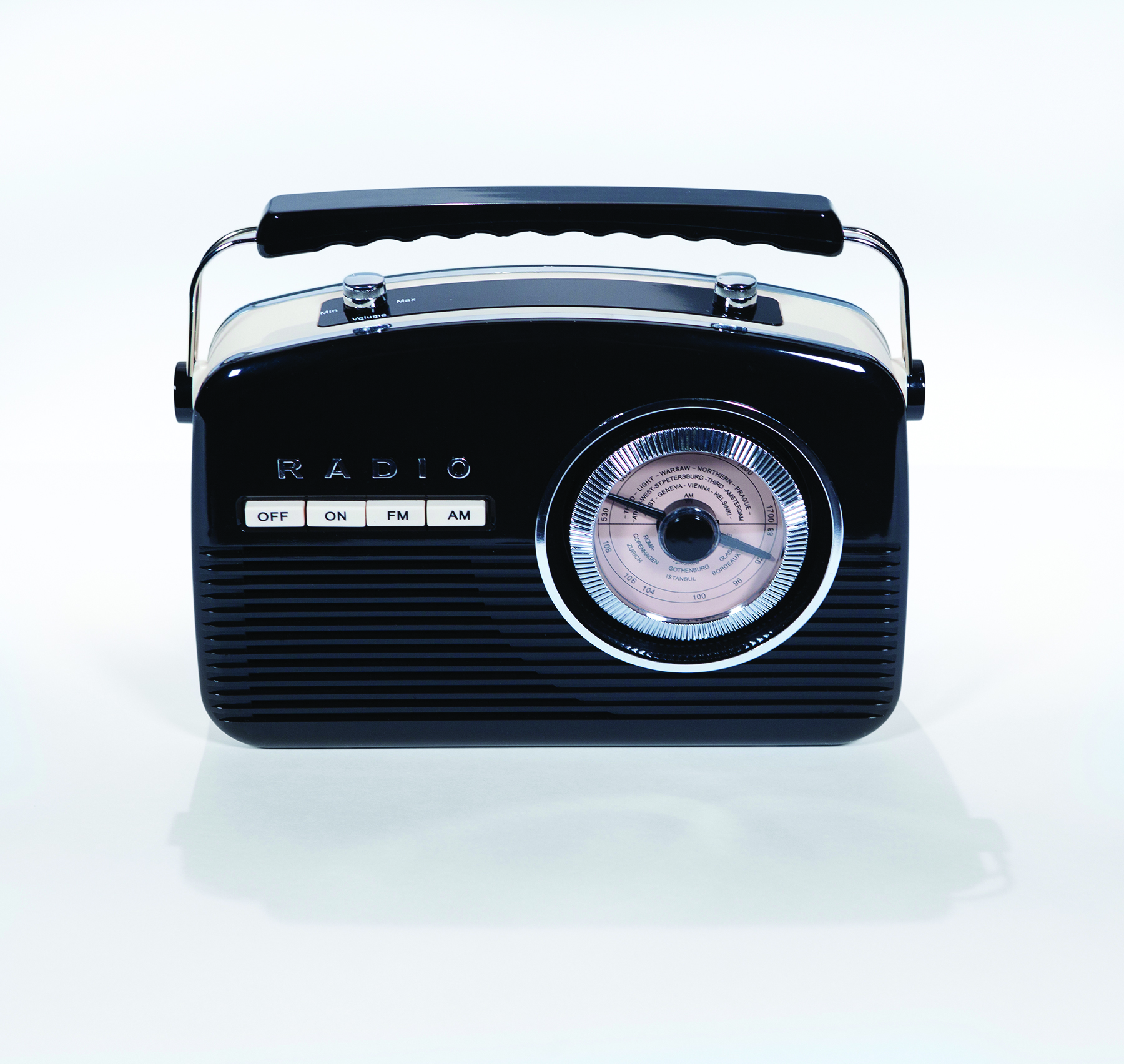retro stereo am fm radio cd player 2013 holiday gift. Black Bedroom Furniture Sets. Home Design Ideas